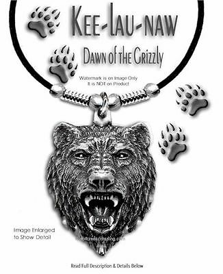 "GRIZZLIES BEAR GRIZZLY DAWN NECKLACE - JEWELRY ART WILD NATURE 24"" FREE SHIP #L*"