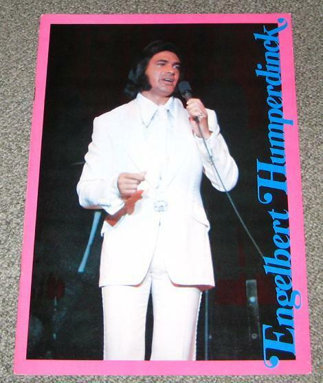 SALE! Engelbert Humperdink JAPAN tour book 1972(?) Eurovision LOTS of photos