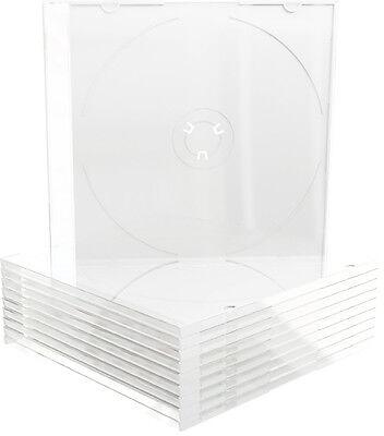 100 MediaRange CD / DVD Slim Case weiß Leer Hülle für 1 Disk Hüllen Box
