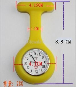 For Sell Nurse Watch Silicone Quartz Movement Fob Brooch Pendant