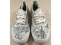 Vans White 'Fear Of God' Customised Hand Drawn Trainers Sneakers