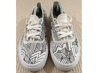 Vans 'Fear Of God' Customised White Hand Drawn Trainers Sneakers