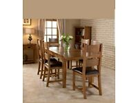Brand New Dorset Extendable American Solid Oak Dining Table(RRP £849)