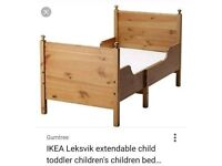 Ikea extending toddler bed