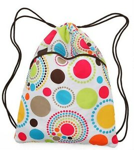 Thirty One 31 Circle Spiral Cinch Sac  New and Retired