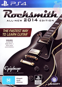 PS4 Guitar Game Rocksmith All-New-2014 Edition Sony Playstation 4 Canley Vale Fairfield Area Preview