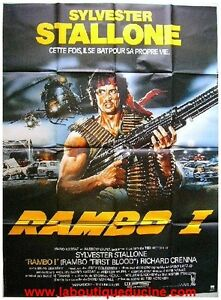 rambo affiche cin ma movie poster sylvester stallone richard crenna 160x120 ebay. Black Bedroom Furniture Sets. Home Design Ideas