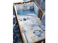 Next monkey cot set and curtains