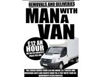 MAN AND VAN £12 AN HOUR