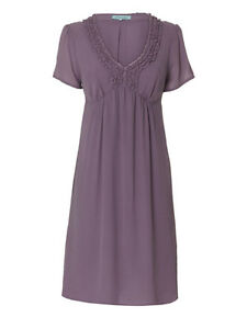 Dickins-Jones-100-Silk-Purple-Ruffle-Front-Dress-8-12-14-16-House-of-Fraser
