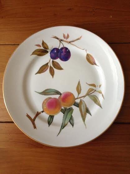 Great Royal Worcester Evesham Oven To Tableware Fine Porcelain Dinner Plates X6