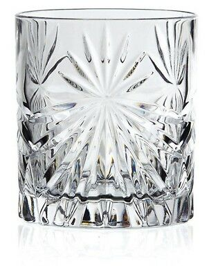 Set of 6X RCR Italian Crystal Whisky Tumblers Oasis Glass 32cl -Same Day Ship