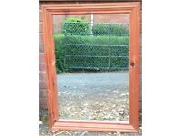 Traditional Style mirror - oak stained pine frame 89cm x 63cm