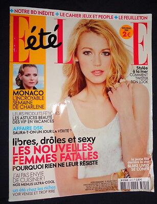 French Elle 7/2011 Blake Lively Charlene de Monaco Benjamin Millepied Kim Noorda