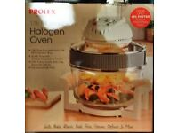 PROLEX LARGE HALOGEN OVEN,ONLY USED ONCE.