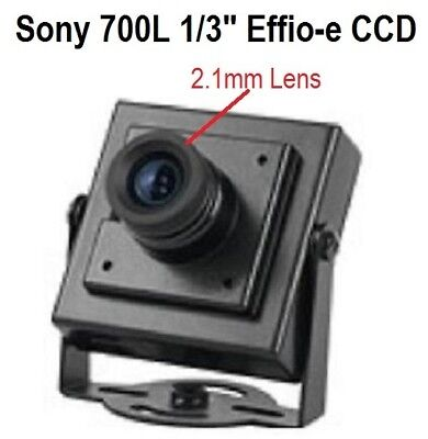 "GC-272 Sony 700TVL 1/3"" Effio-e CCD 3.6mm  Mini-box Pinhole Spy CCTV BNC Camera"