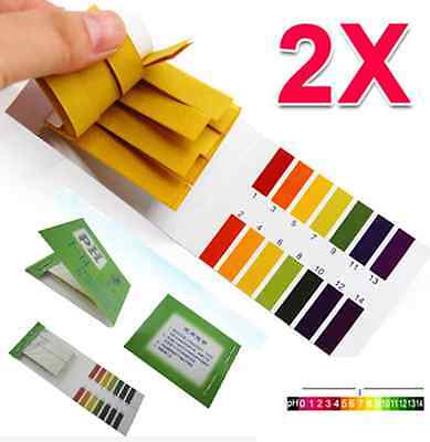 160 Strips Jt52 Ph Paper Alkaline Acid 1-14 Water Litmus Testing Kit Full Range