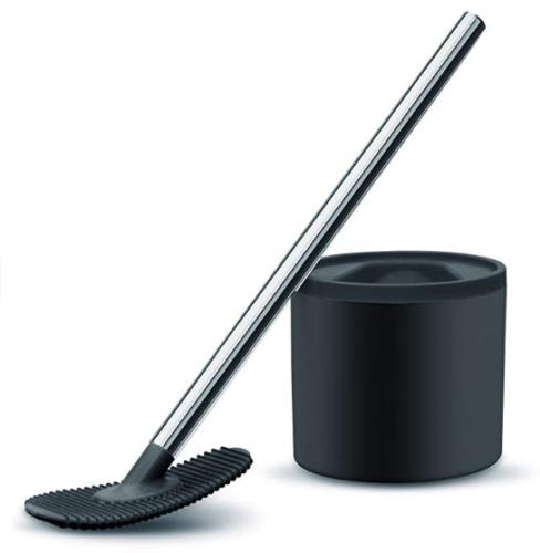 WC-Reiniger Daily WC-Bürste WC-Garnitur Toilettenbürste Silikonbürste schwarz