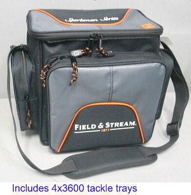 Gift Idea - Field & Stream Fishing Tackle Bag with 4-3600 Size Utility Boxes