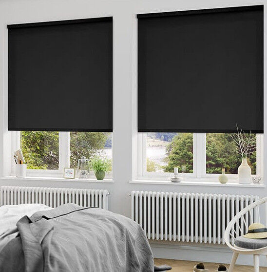 X2 Blackout Blinds No Fittings But Cheap Solution To Cover Single