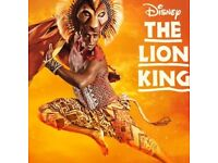 Lion king tickets X4 London theatre