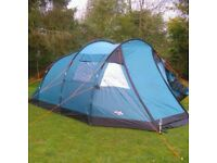 Vango Tigris 400 , 4 person family tent, 2 room plus porch/seating area, excellent condition