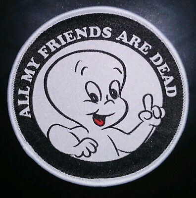 "PATCH - Casper the Friendly Ghost ""All my Friends are Dead"" (woven) - Halloween"