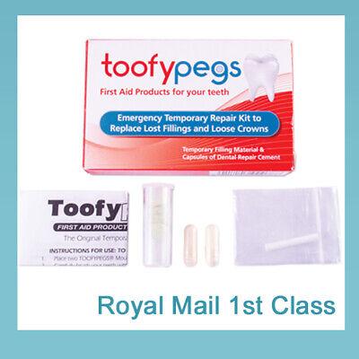 Dental Glue Loose Crown Repair Refix Kit / Replace Lost Fillings / Tooth Fix