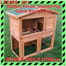 2 Storeys Gable Roof Rabbit, Guinea Pig, Ferret Cage Hutch Rosewater Port Adelaide Area Preview