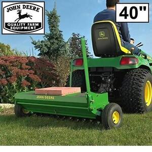 "NEW* JOHN DEERE 40"" AERATOR SPEADER - 120768824 - TOW BEHIND COMBINATION AERATORS SPREADERS FARM FARMING EQUIPMENT TR..."