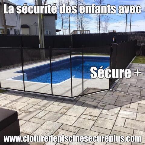 Cl ture de piscine amovible s curitaire pour enfant for Cloture piscine
