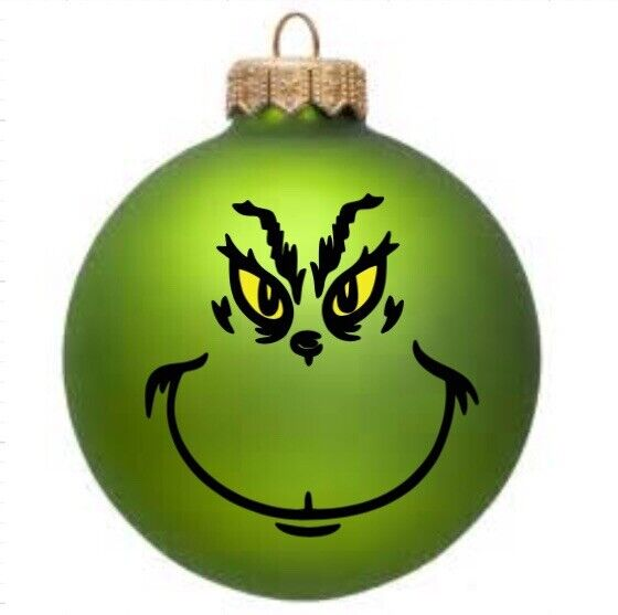 Grinch Inspired DIY Christmas Ornament Decal