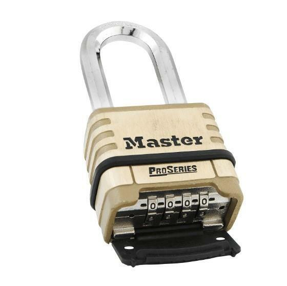 = Master Lock Pro Series Set Your Own Combination Padlock Brass Body 1175D NEW