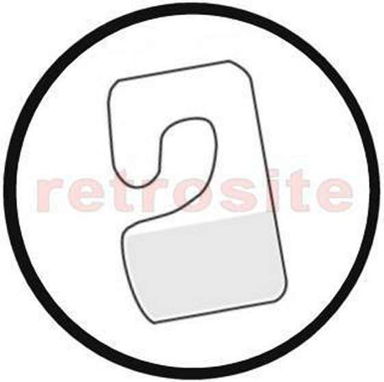 800 Clear Plastic J Hook Hang Tabs Tags Self-Stick Adhesive Package Hangers-USA-