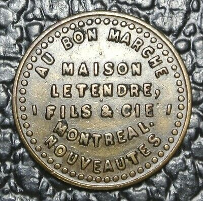MAISON LE TENDRE, FILS & CIE TOKEN - Montreal - Certificate of Purchase $2.50