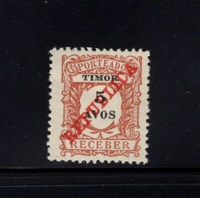 Timor 1911 5a Postage Due MH Sc J13