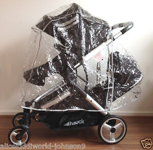 New HAUCK Official Raincover for Duett tandem double pushchair, Raincover ONLY