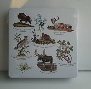 Vintage Tin / Collectible Hudson's Bay Tin / Animals of Canada T