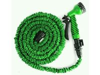 Brand New 30m (100ft) Stretchy Hose With Seven Spray Pattern Jet Nozzle