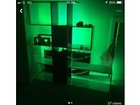 Display Unit with LED lights attached to the back, various colours, good condition