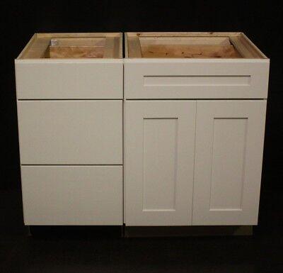 """Set Of 2 Kraftmaid Canvas Maple Bathroom Vanity Sink Base Cabinets 42"""""""