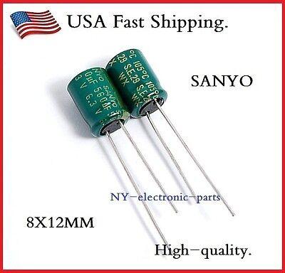 10pcs 560uf 6.3v Sanyo Radial Electrolytic Capacitors.8x12mm Wx 6.3v560uf