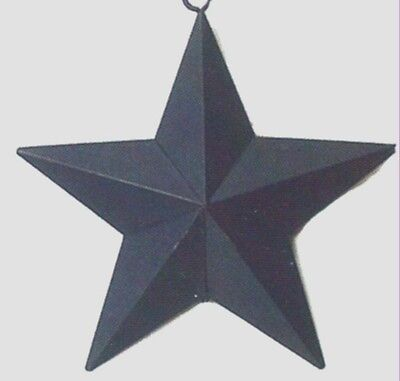 "5.5x5.5""  Primitive Country Blue Metal Barn STAR Tin Wall Art Decor Sign"