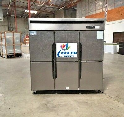 New 6 Door Commercial Freezer 72 X 29 X 75 110v 220v Cooler Case Model Rf46