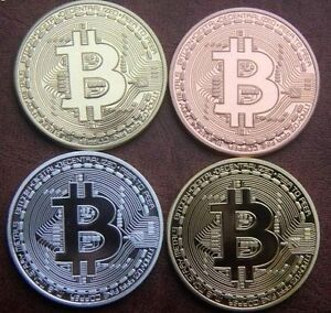 4x-Bitcoin-Set-Gold-Silver-Copper-Bronze-Plated-Physical-1Oz-BTC-Coin-C6