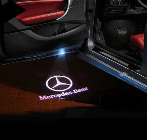 2XFor Mercedes Benz LED Car Step Logo Welcome Light Door Shadow Laser Projector