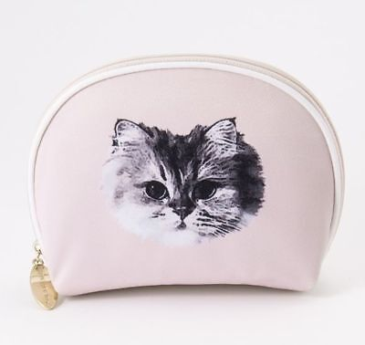 Paul & Joe Sister Cosmetic Bag Pouch Cat Pale-Whitish-Pink Japan-Limited Rare!