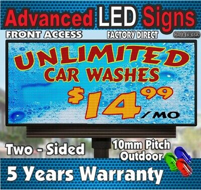 Long Life Led Sign Indoor Outdoor Full Color P10 Scrolling 19h X 63 - Usa