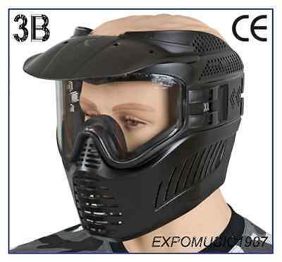MASK SURVIVAL WITH VISOR GXG PREDATOR BLACK - PAINTBALL AIRSOFT - Predator No Mask