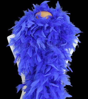 Royal Blue 100 Gram Chandelle Feather Boa Dance Party Halloween Costume - Royal Blue Halloween Costumes